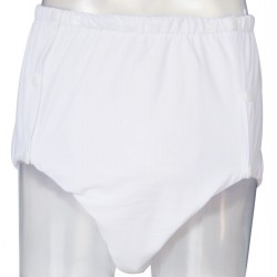 White Snaps Cloth Diaper Without Waterproof Outer