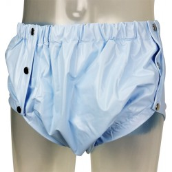 Shapely Plastic Pants with Snaps, Blue
