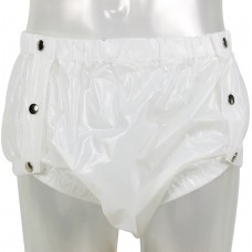 Shapely Plastic Pants with Snaps