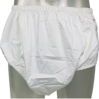 Pull-Up Pants with Breathable PUL Backing, White (PB261W-1) €16.50