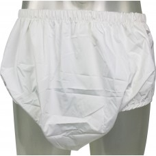 Pull-Up Pants with Breathable PUL Backing, White