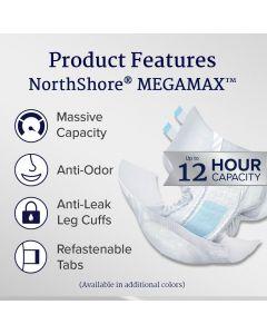 Northshore MegaMax Slip, Plastic Backed, Multicolor