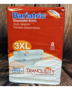 Tranquility Bariatric 3XL Disposable Briefs (2190) Cotton-Feel